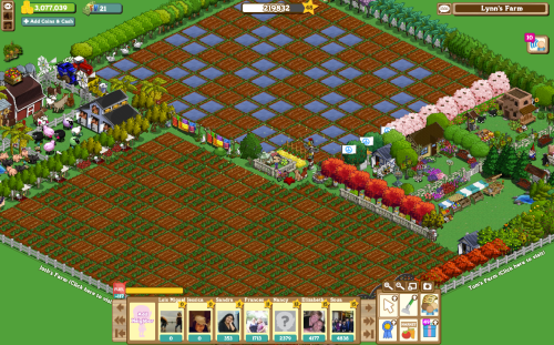 2794ba852913 This screenshot is one I took of my farm in Farmville. See how neat and  regular the fields  The trees all in neat lines